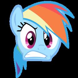 Rainbow Dash Vector - Angry Face