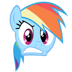 Rainbow Dash Vector - Angry Face by Anxet