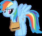 Rainbow Dash Vector - *sigh* Back To School...