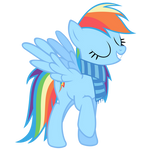 Rainbow Dash Vector - Of Course I'm The Best Pony!