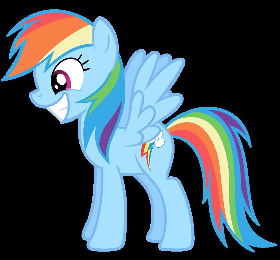 Rainbow Dash Vector - Smile Rainbow Dash Mlp Vector