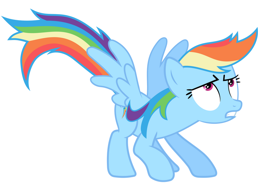 Rainbow Dash Vector - GAK? Where? by Anxet