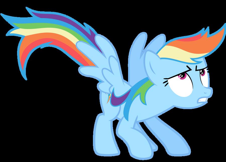 Rainbow Dash Vector - GAK? Where? by Anxet