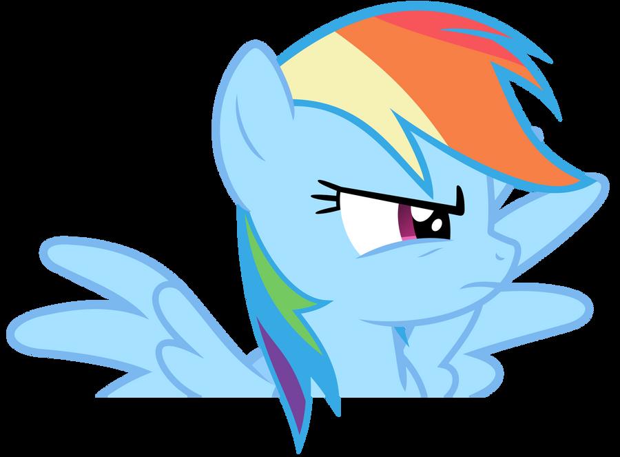 Rainbow Dash Vector - Dramatic Rainbow by Anxet
