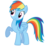 Rainbow Dash Vector - Wut? No lunch provided?