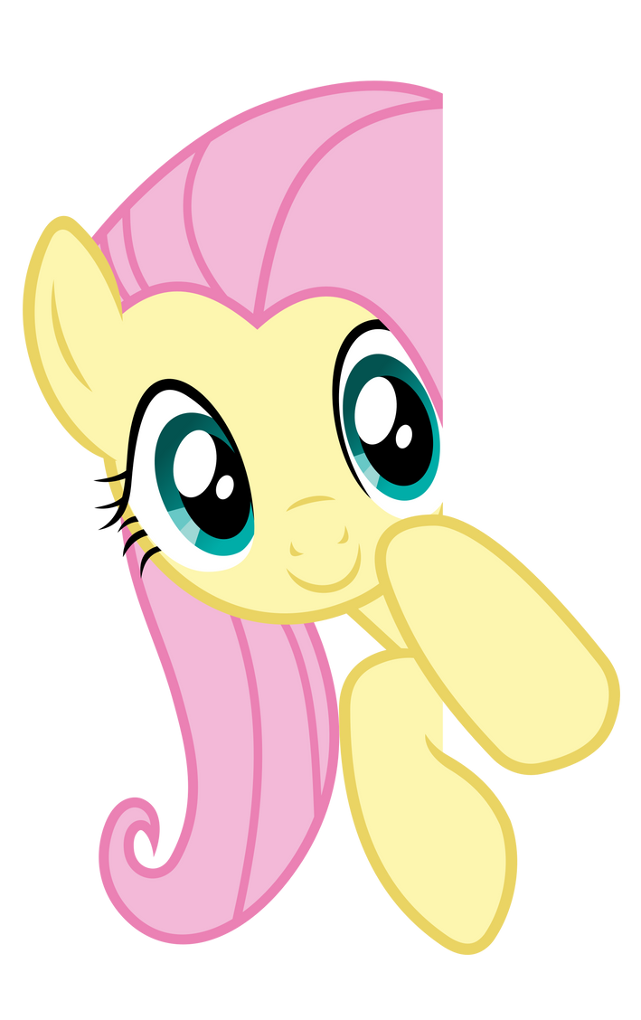 Fluttershy Vector - Peeking over by Anxet