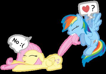 Fluttershy + Rainbow Dash Vector - W u no want RP?