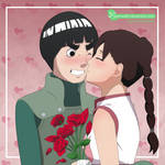 Commish - Flowers and Kisses by LadyMid0ri