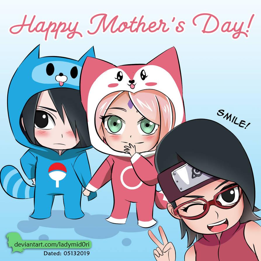 SasuSaku Mothers Day Celeb by LadyMid0ri