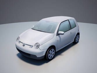 VW Lupo low-poly front by RaMoNVicious