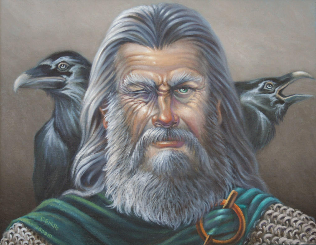 Portrait of Odin by Wolverat