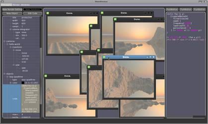 Screenshot of Minimalistic GUI by phresnel