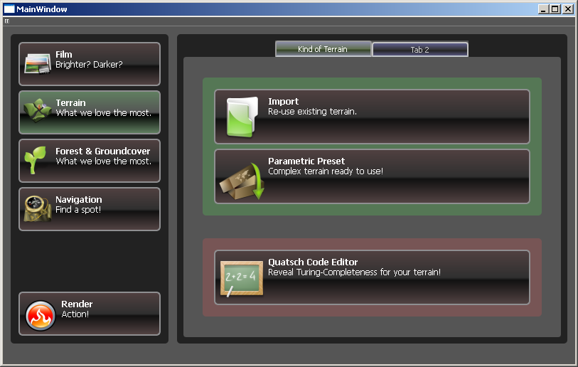Early Mockup of Next GUI