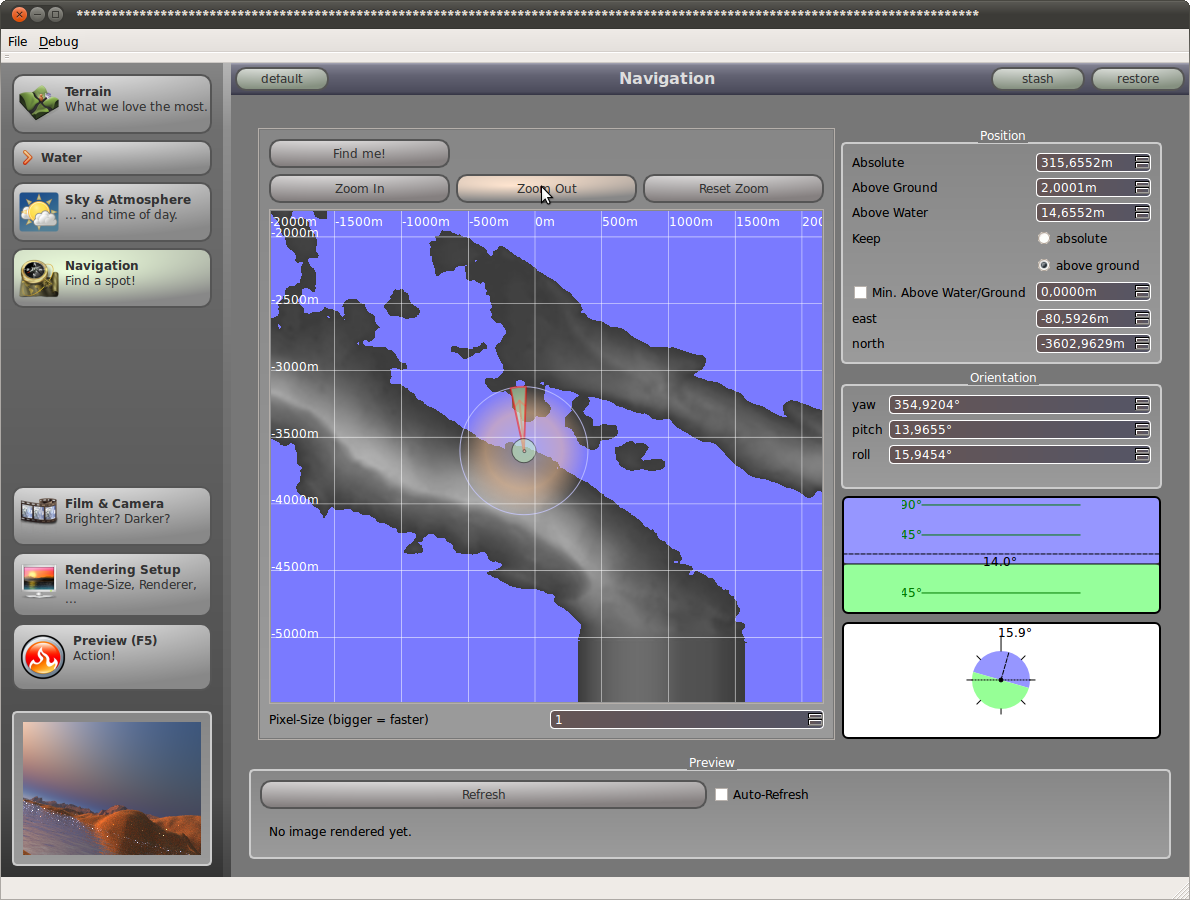 picogen 0.4 Navigation Window