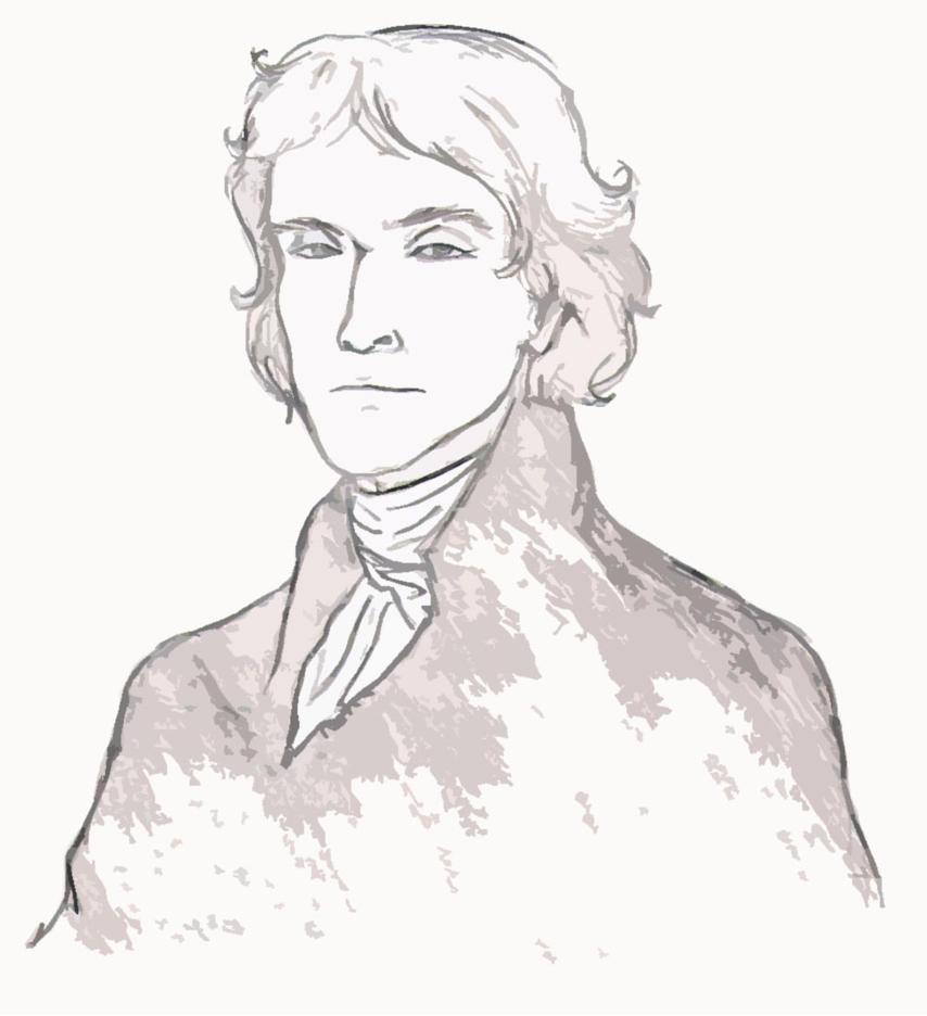 Thomas Jefferson Portrait by hannz0rz