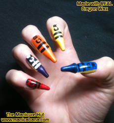 REAL Crayon Nails