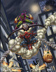 SPIDER-MAN VS. GREEN GOBLIN by HEARTBREAKKID