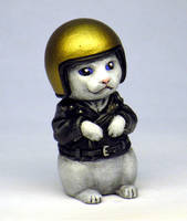 Biker Kitty painted by Switchum