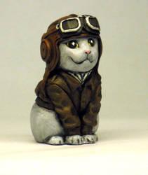 Aviator Kitty-painted