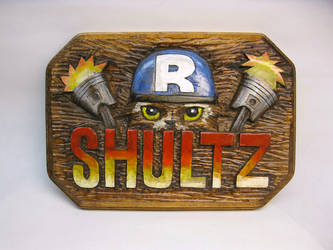 The Shultz plaque by Switchum
