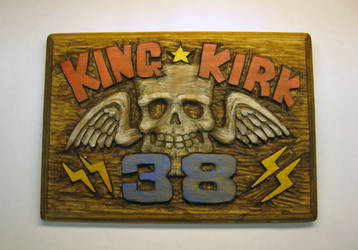 King Kirk #38 plaque by Switchum