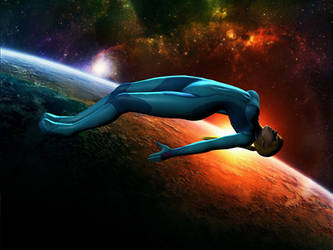 Samus Floating in Space by Diony69