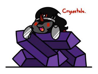 Crystal Fan by FlutterLuv