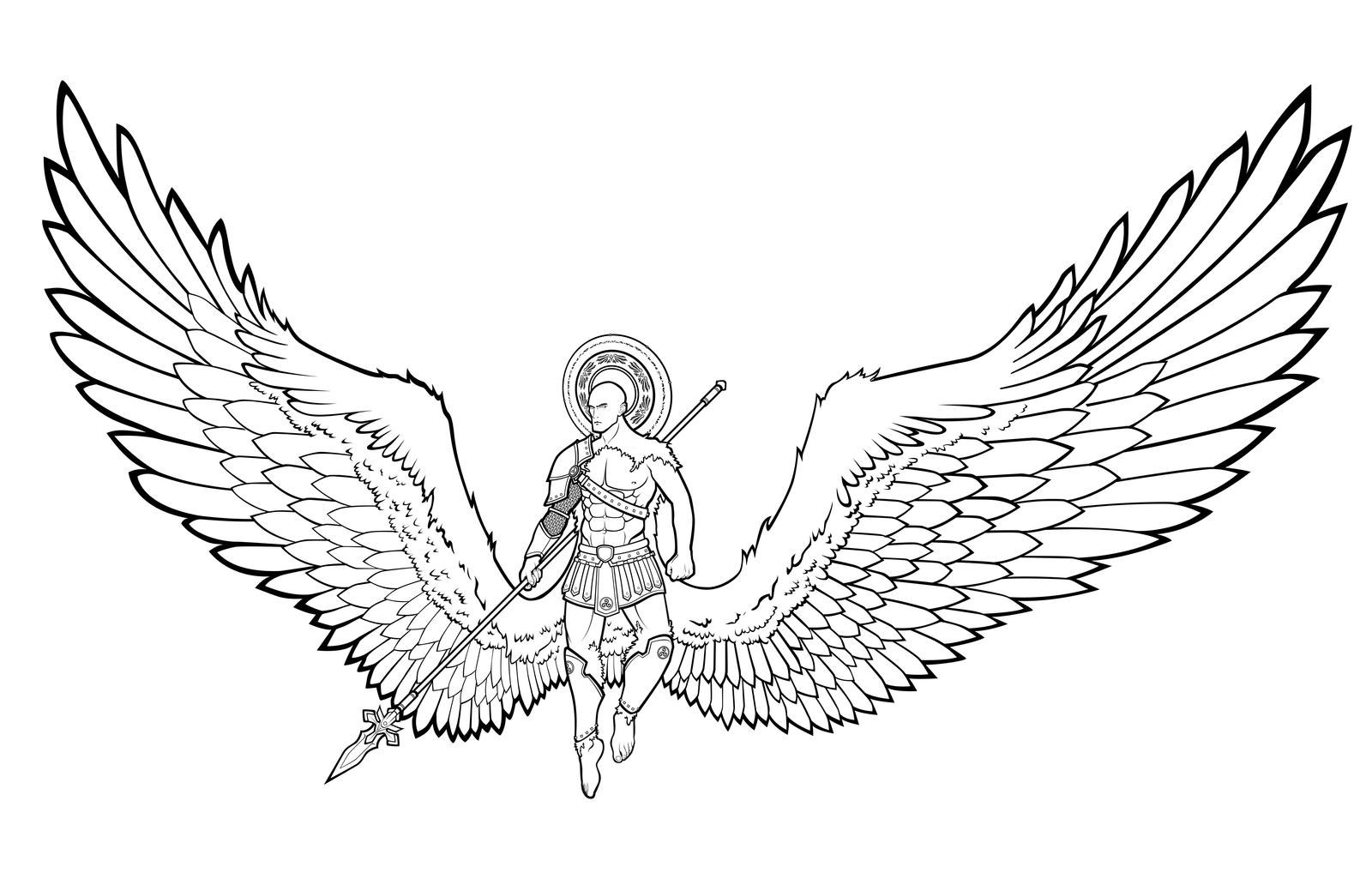 Line Drawing Wings : Angel wings valor by lastlinelover on deviantart