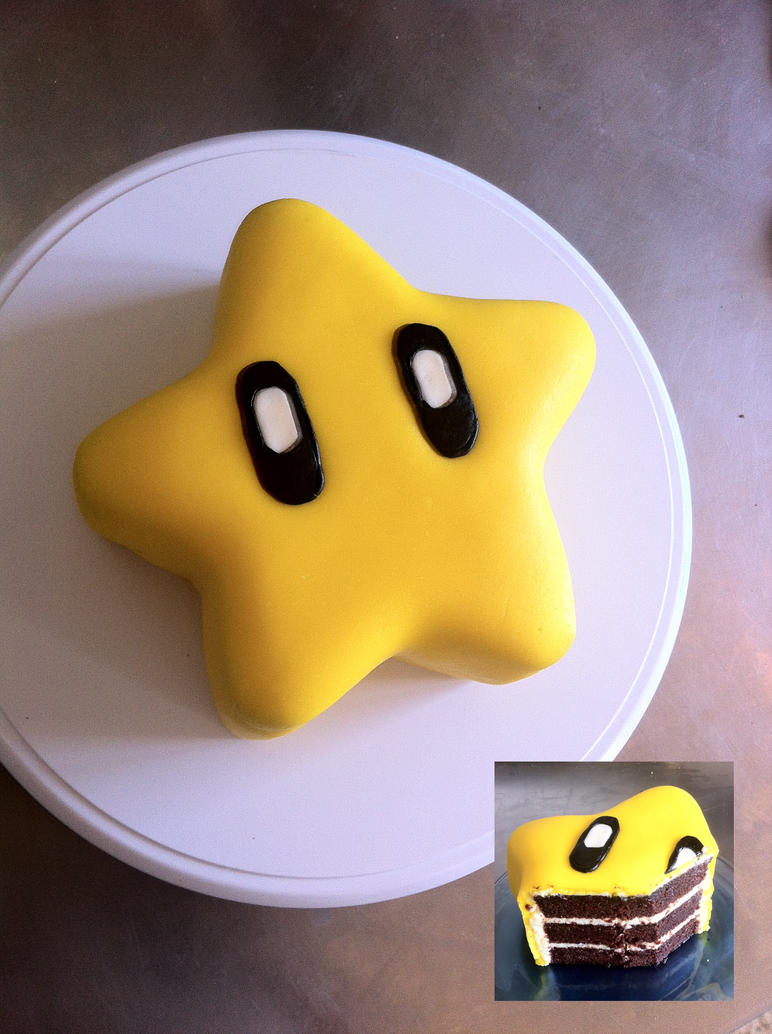 Super Mario Star Cake by Kalan
