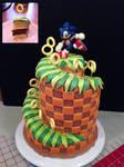 Sonic Green Hill Zone Cake