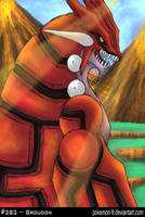 Pokeart 383 - Groudon FR by frbrothers86