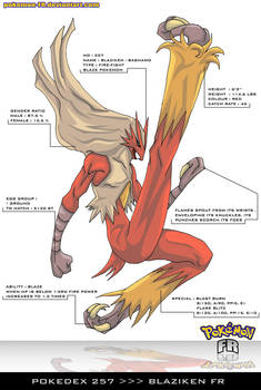 Pokedex 257 - Blaziken FR