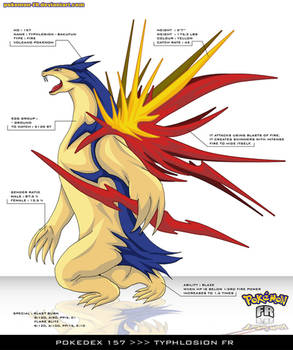 Pokedex 157 - Typhlosion FR