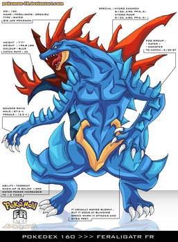 Pokedex 160 - Feraligatr FR