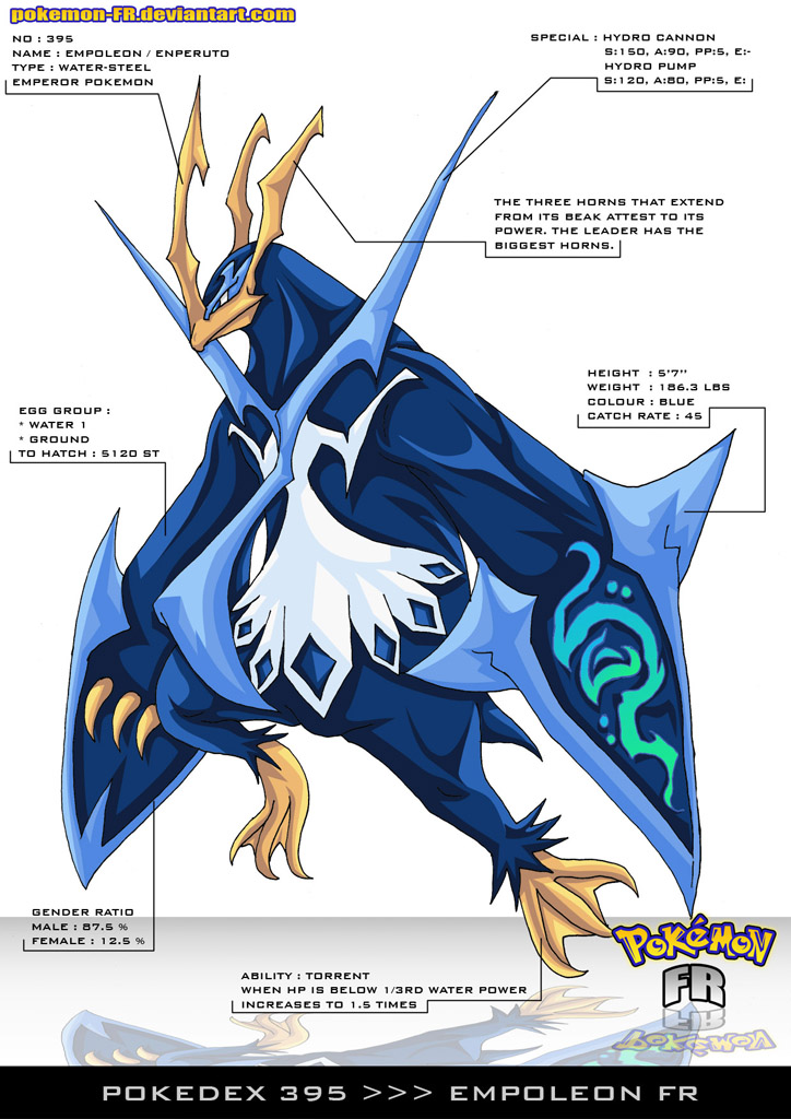 Pokedex 395 - Empoleon FR by Pokemon-FR
