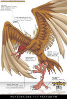 Pokedex 022 - Fearow FR by frbrothers86