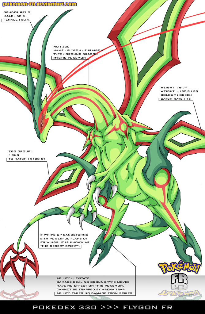 Pokedex 330 - Flygon FR by Pokemon-FR
