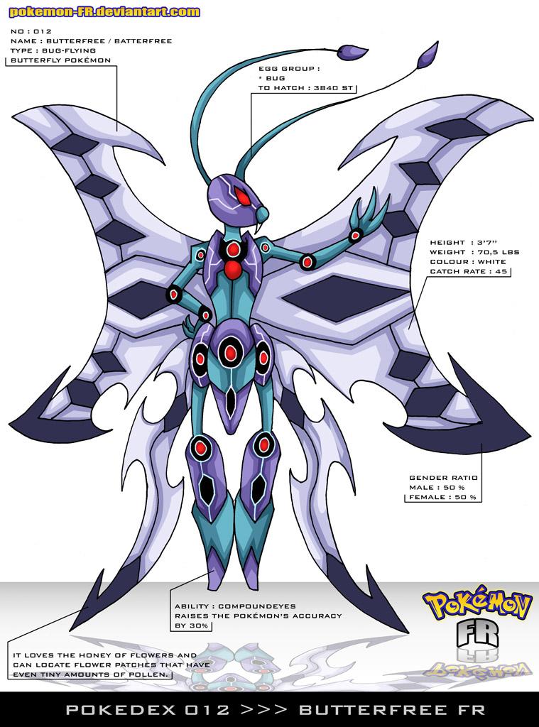 Pokedex 012 - Butterfree FR by Pokemon-FR