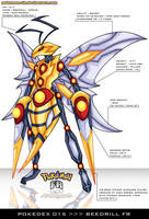 Pokedex 015 - Beedrill FR by frbrothers86