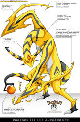 Pokedex 181 - Ampharos FR by frbrothers86