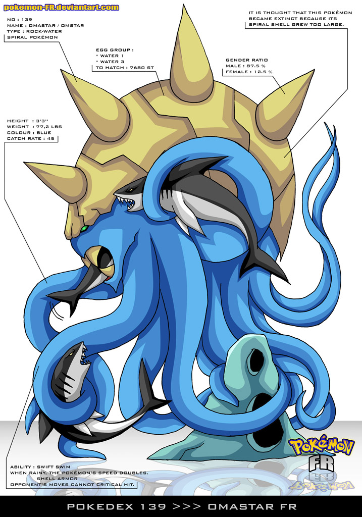 Pokedex 139 - Omastar FR by Pokemon-FR
