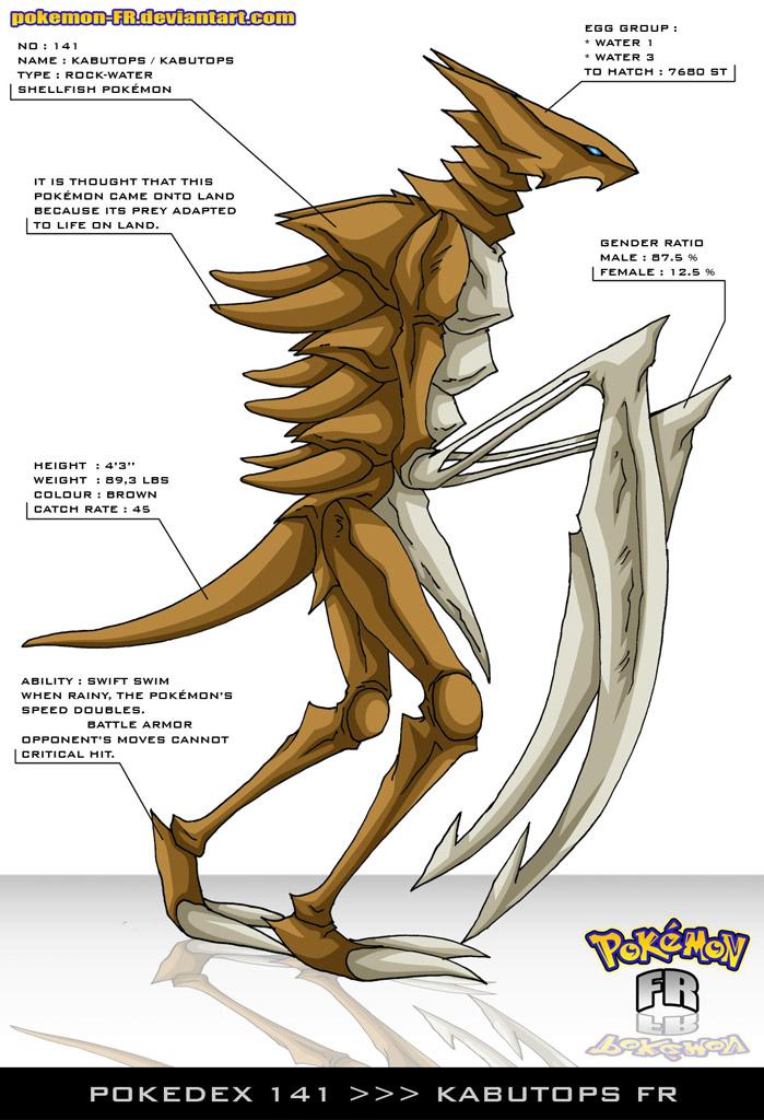 Pokedex 141 - Kabutops FR by Pokemon-FR