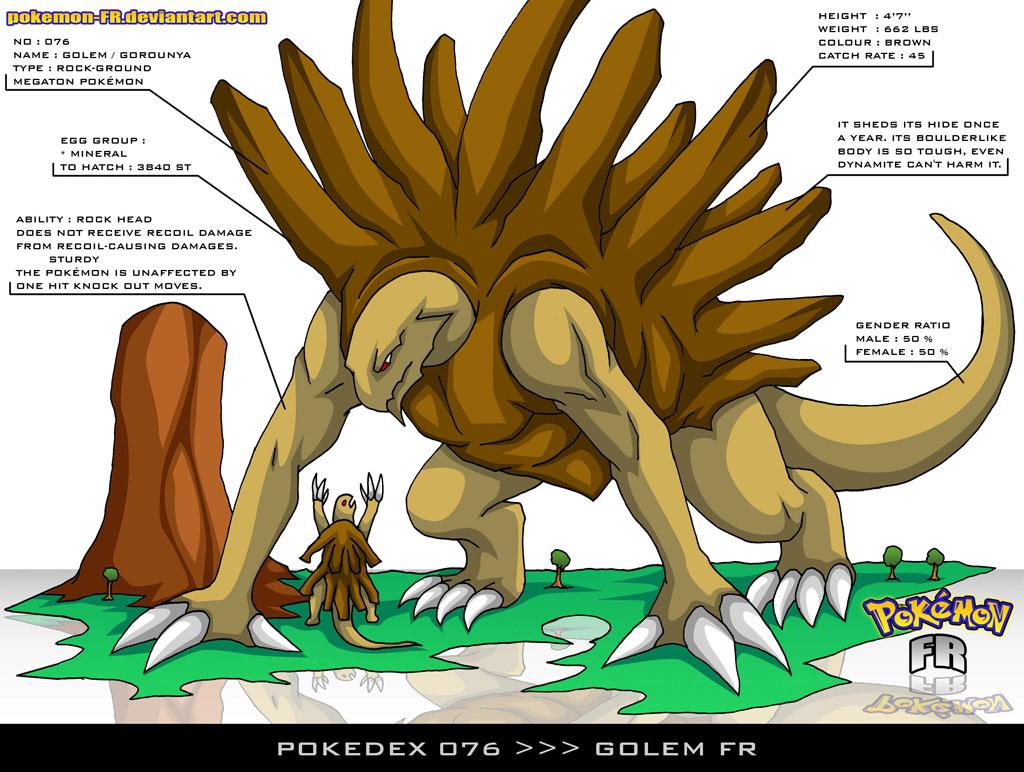 Pokedex 076 - Golem FR by Pokemon-FR