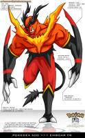 Pokedex 500 - Emboar FR by frbrothers86