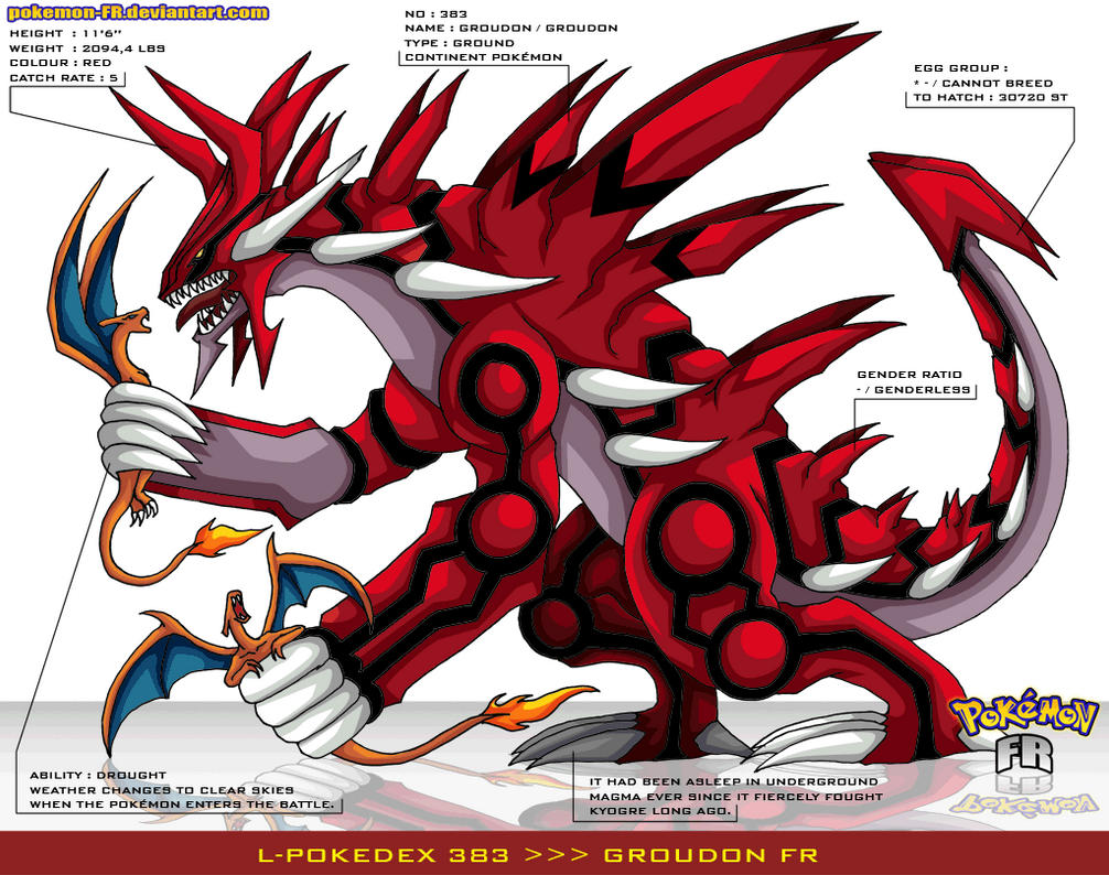 L 39 pokedex 383 groudon fr by pokemon fr on deviantart - Pictures of groudon and kyogre ...