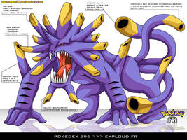Pokedex 295 - Exploud FR by frbrothers86