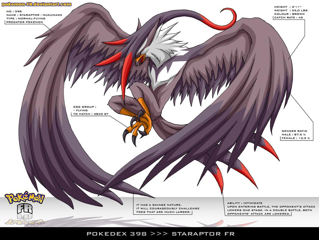 Pokedex 398 - Staraptor by Pokemon-FR on DeviantArt