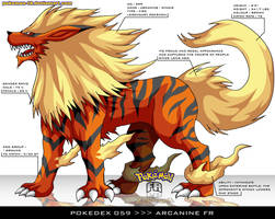 Pokedex 059 - Arcanine FR by frbrothers86