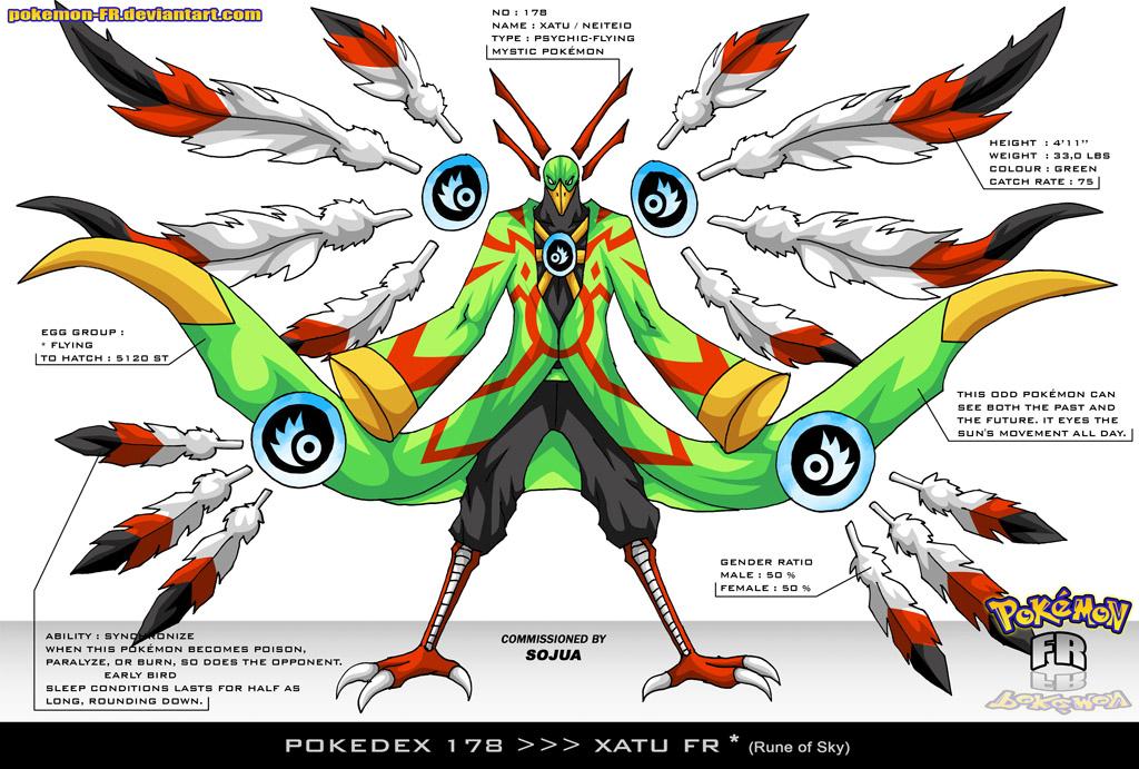 Pokedex 178 - Xatu FR by Pokemon-FR