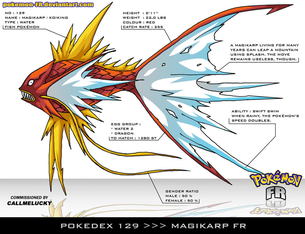 Pokedex 129 Magikarp Fr By Pokemon Fr On Deviantart